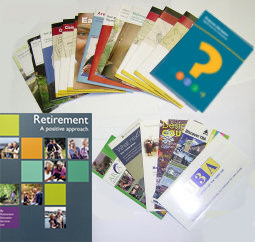 Contents of free information pack, including 'Retirement - A Positive approach'