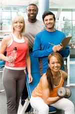 life planning - Group of young people at gym